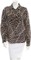 Tory Burch Patterned Button-Up Top