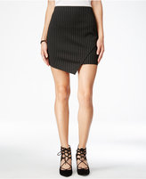 Material Girl Juniors' Pinstriped Asymmetrical Skirt, Only at Macy's