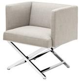 Eichholtz Dawson Armchair Upholstery Color: Gray