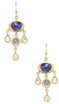 Amrapali Yellow Gold, Tanzanite & 0.73 Total Ct. Diamond Drop Earrings