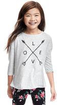 Old Navy Pleated-Back Graphic Tee for Girls