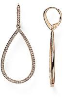 Nadri Pave Open Teardrop Earrings