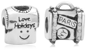 Rhona Sutton 4 Kids Children's Holiday Travels Bead Charms - Set of 2 in Sterling Silver