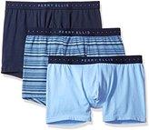 Perry Ellis Men's 3 Pk Cotton Stretch Stripe/Solid Boxer Briefs