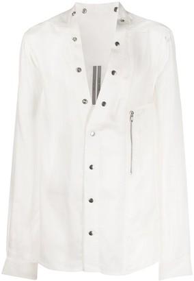 Rick Owens Larry collarless shirt