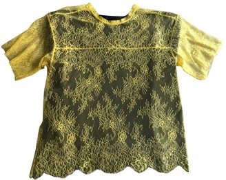 Philosophy di Lorenzo Serafini Yellow Lace Top for Women