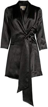 Mestiza New York Aurora Claudia Tied Streth-Silk Tuxedo Dress