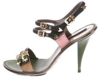 Louis Vuitton Ponyhair Buckle Sandals