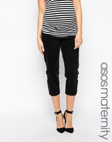 Asos Marlowe Parallel Jeans in Washed Black