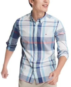 Tommy Hilfiger Men's Haiden Classic-Fit Stretch Plaid Shirt