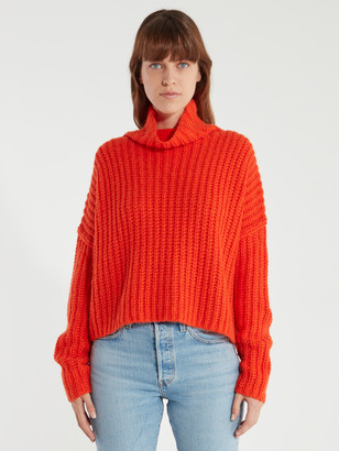 Rebecca Minkoff Kacey Rib Turtleneck Sweater