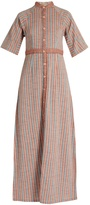Ace&Jig Ballad stand-collar striped-cotton dress