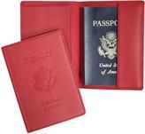 Royce Leather Royce New York Leather Debossed RFID Passport Jacket