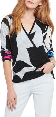 Nic+Zoe New Adventures Linen Blend Wrap Front Sweater