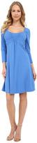 Mod-o-doc Cotton Modal Spandex Jersey Ruched Babydoll Dress