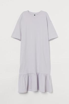H&M Ruffle-hem T-shirt Dress