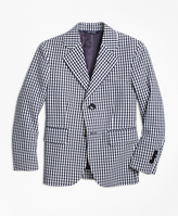 Brooks Brothers Two-Button Seersucker Gingham Sportcoat
