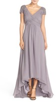 Eliza J Women's Embellished Pleated Chiffon Gown
