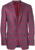 Canali checked print jacket
