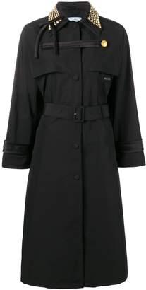 Prada studded collar trench coat