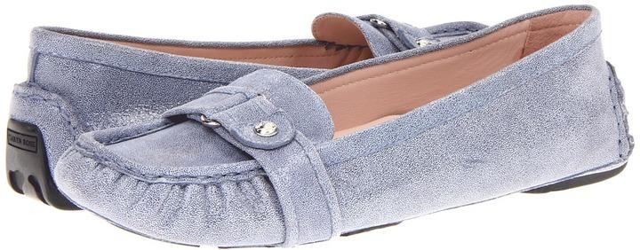 Taryn Rose Caress (Dusty Blue Printed Pattern Suede) - Footwear