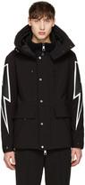 Neil Barrett Black Thunderbolt Ski Jacket
