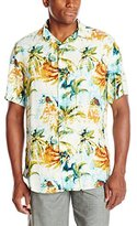 Margaritaville Men's Short Sleeve Surfing In A Hurricane BBQ Shirt