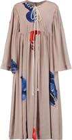 Natasha Zinko Gloves printed silk-satin maxi dress