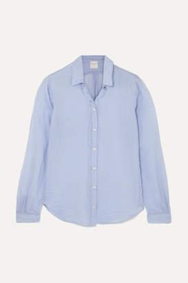 Forte Forte Cotton And Silk-blend Voile Shirt - Light blue