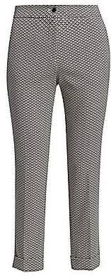Etro Women's Geo Check Cropped Stretch Trousers