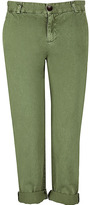 CURRENT ELLIOTT Army Green The Captain Chino Pants