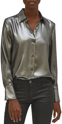 Equipment Sedienne Metallic Collared Shirt