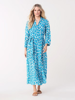 Diane von Furstenberg Collared Cotton Voile Midi Beach Wrap Dress