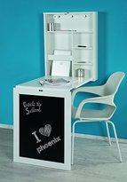Phoenix Desk, Wood, White Lacquered