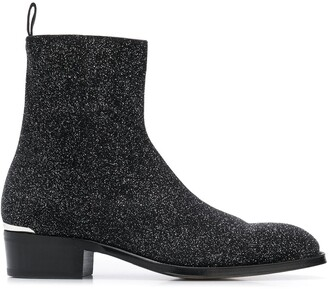 Alexander McQueen glittered ankle boots
