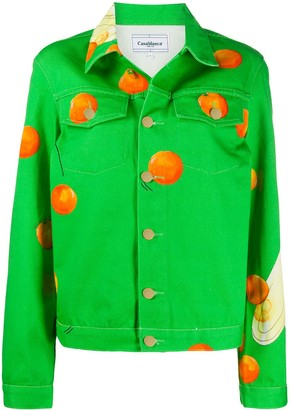 Casablanca Les Oranges denim jacket