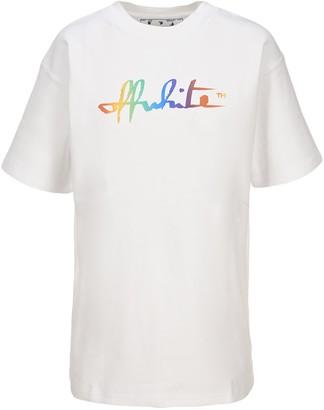 Off-White Rainbow Script T-Shirt