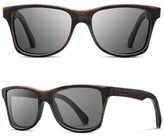 Shwood Men's 'Canby' 55Mm Acetate & Wood Sunglasses - Dark Walnut/ Dark Grey
