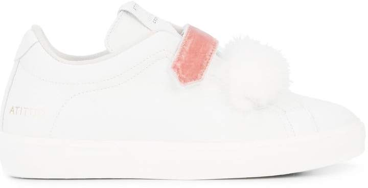 Leather Crown touch fastening sneakers