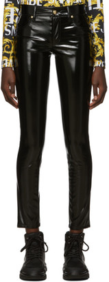 Versace Black Shiny Vinyl Trousers
