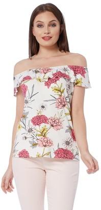 M&Co Roman Originals frill floral bardot top