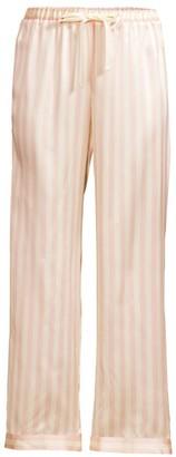 Morgan Lane Silk Striped Pajama Pants