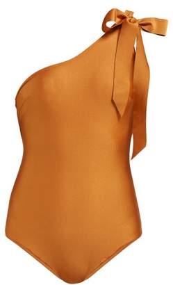Zimmermann Veneto Bow-embellished Swimsuit - Womens - Brown