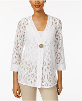 JM Collection Lace Single-Button Blazer, Only at Macy's