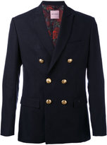 Palm Angels double breasted button blazer - men - Cotton/Linen/Flax/Viscose - 48