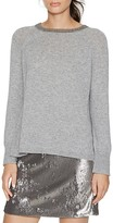 Halston Metallic-Trim Sweater