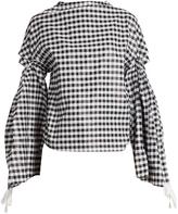 Toga Open-back cotton-blend top