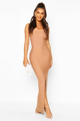 boohoo Premium Sculpting Bandage Bandeau Midaxi Dress