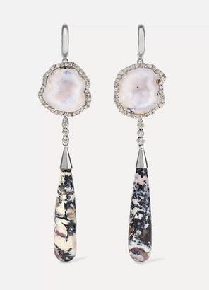 Kimberly Mcdonald McDonald - + Net Sustain 18-karat White Gold Multi-stone Earrings - one size