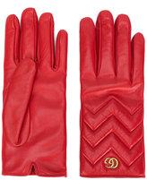 Gucci GG Marmont gloves - women - Lamb Skin/Cashmere - 7
